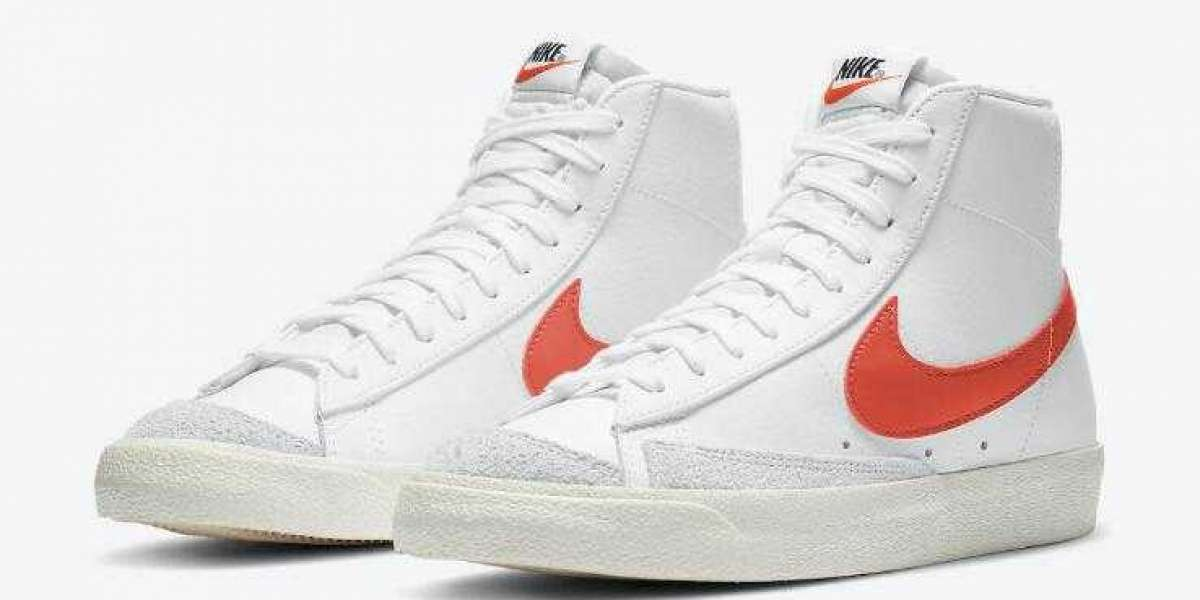 BQ6806-110 Nike Blazer Mid '77 Vintage White Mantra Orange