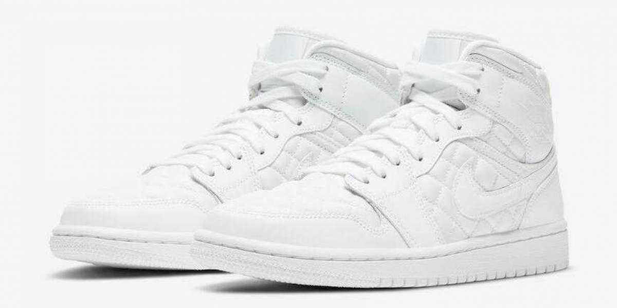 DB6078-100 Air Jordan 1 Mid SE White Quilted Releasing Soon