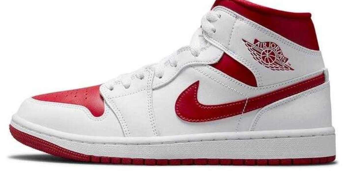 Buy the Red Toe Air Jordan 1 Mid on jordan2020release.com