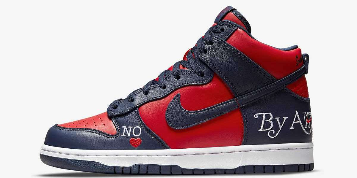 """DN3741-600 Supreme x Nike SB SB Dunk High """"By Any Means"""" Shoes"""